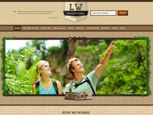 Blog y web para sector turismo, viajes y aventura The Lost World