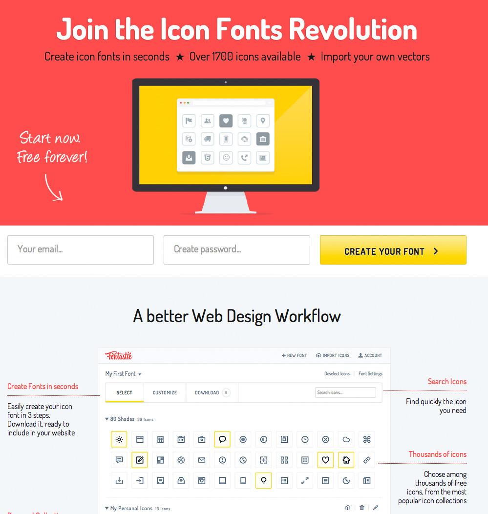 Crea tu propia tipografía de iconos para usar con fontface en tus CSS