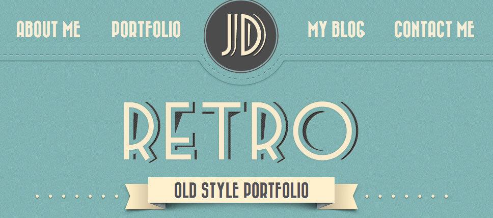 Retro Portfolio: Atractivo tema WordPress tipo portafolio de estilo retro y una única página