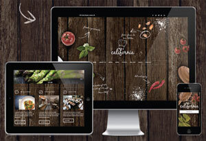 Crear o hacer página web para restaurante: California