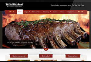 Crear o hacer página web para restaurante: the restaurant