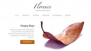 Plantilla Florence. Cómo crear una página web o blog de diseño minimalista y elegante