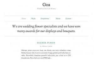 Plantilla Goa. Cómo crear una página web o blog de diseño minimalista y elegante