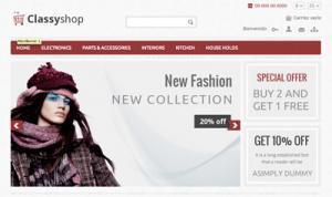 Crear o hacer página web de ropa, moda y productos textiles, con y sin tienda online - classyshop