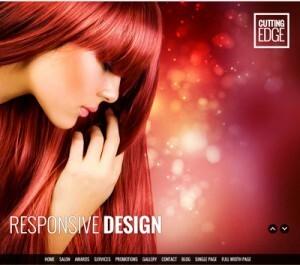 Hacer o crear página web de peluquería: Recomendaciones y precios orientativos. Tema Cutting Edge