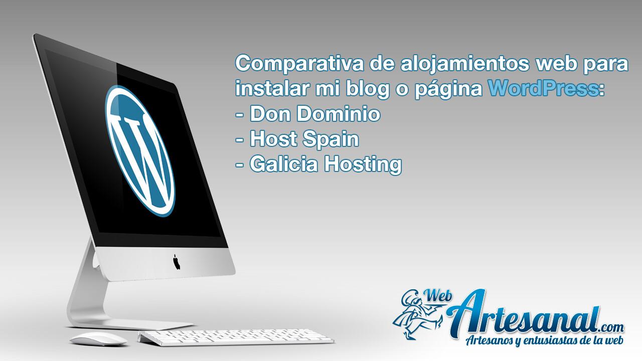 Comparativa empresas de alojamiento web para mi blog o página WordPress