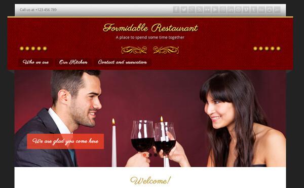 Crear o hacer página web para restaurante o cafetería