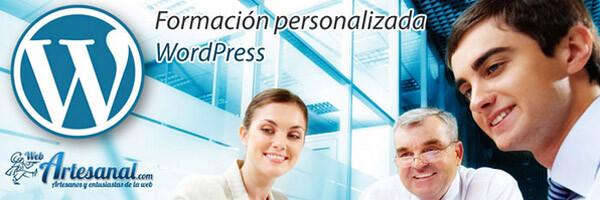 Formación personalizada WordPress para empresas. webartesanal.com