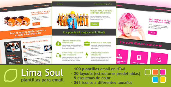 100 plantillas para newsletter o email-marketing de propósito general