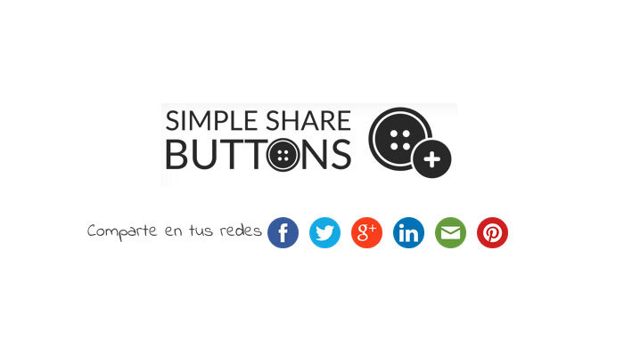 Añade botones compartir en redes sociales con este sencillo y liviano plugin WordPress